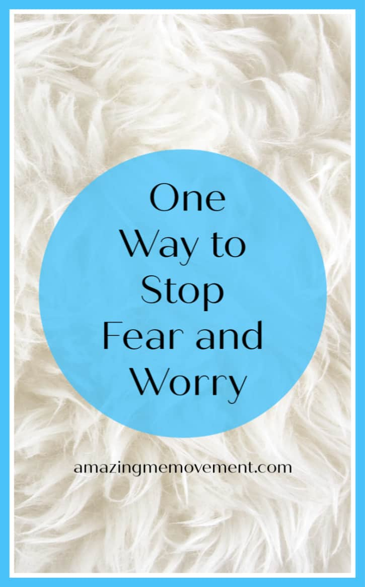 One way to stop worry