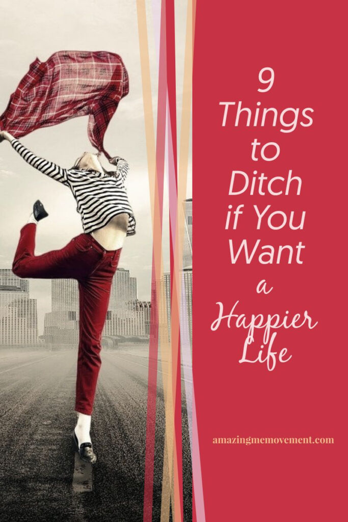 happy lady in the street-how to be happy in life