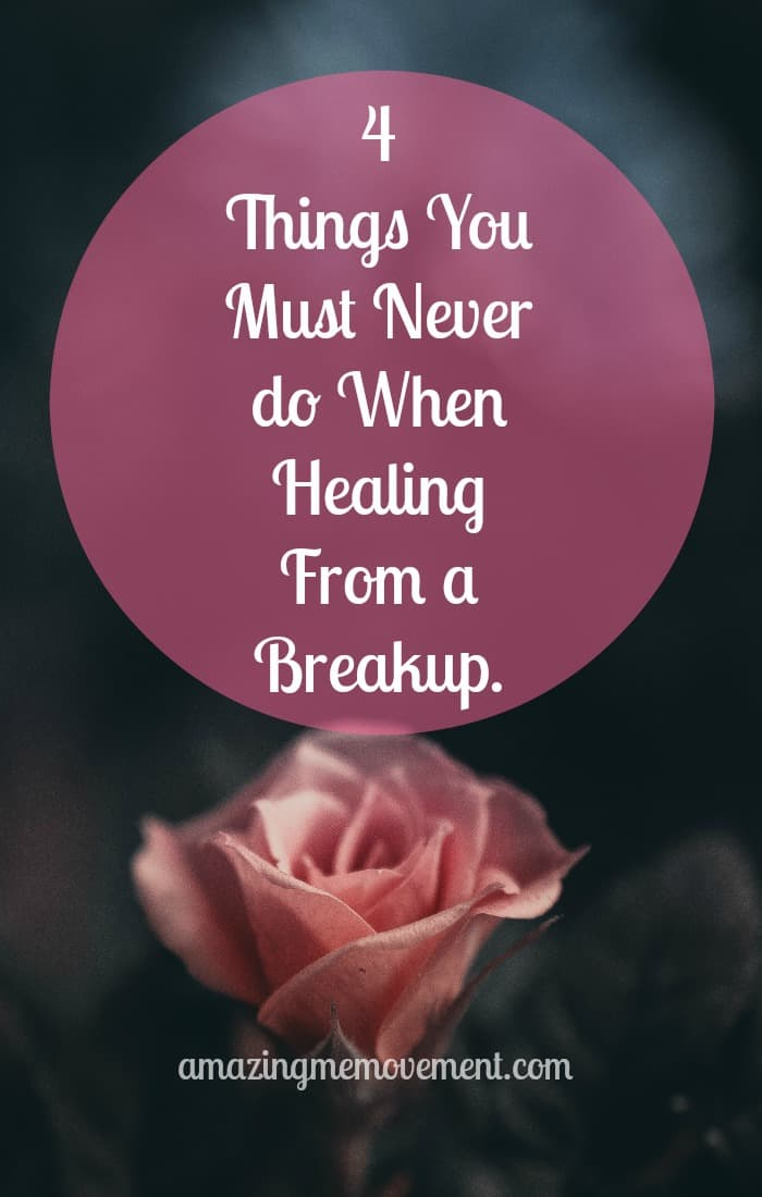 Don't do these 4 things if you want healing from a breakup to happen faster. #healing #grieving #breakups #relationshipsfail #hurt #forgiveness #brokenheart #anger #howtomoveon #justletitgo #lettinggo #wisewords #wisdom #feelings #strength #womenempowerment #life #love