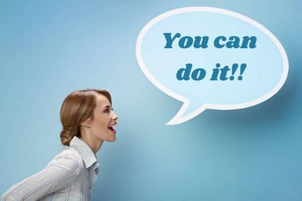 lady shouting you can do it-making life changes