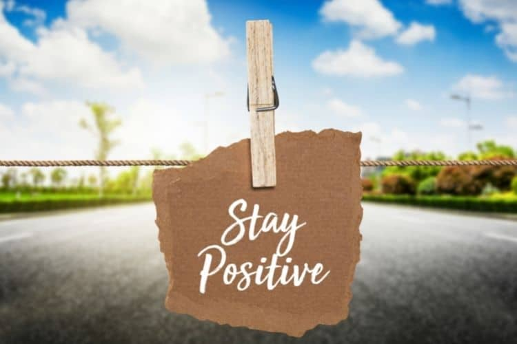 stay positive text