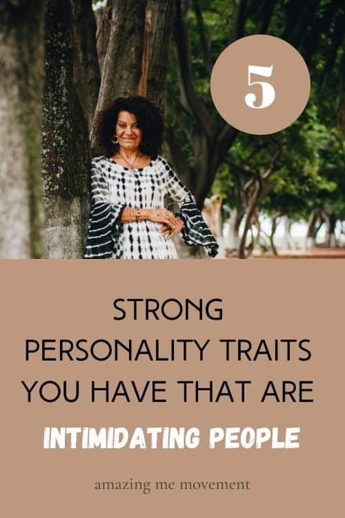 lady standing at a tree-strong personality traits pin image