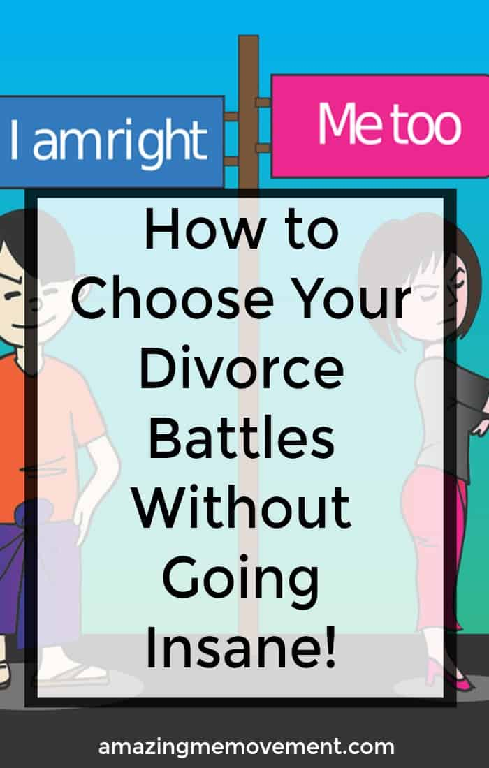 Are you in the middle of a messy divorce and feeling like you're going crazy? Choose your battles wisely. #divorce #lettinggo #movingon #howtobehappy #startinganewlife #separation #relationship #howtoletgo #forgiveness #howtomoveon