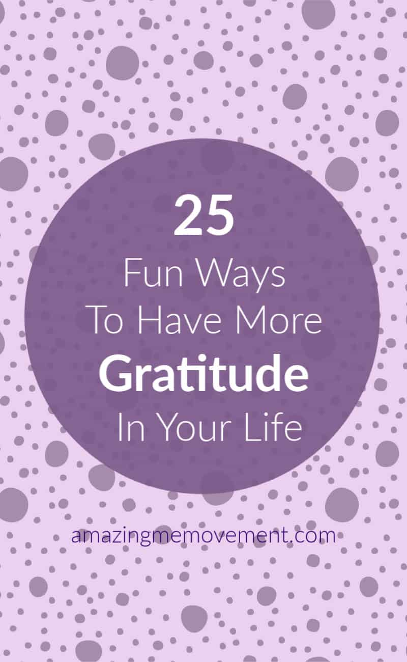 25 things to be grateful for