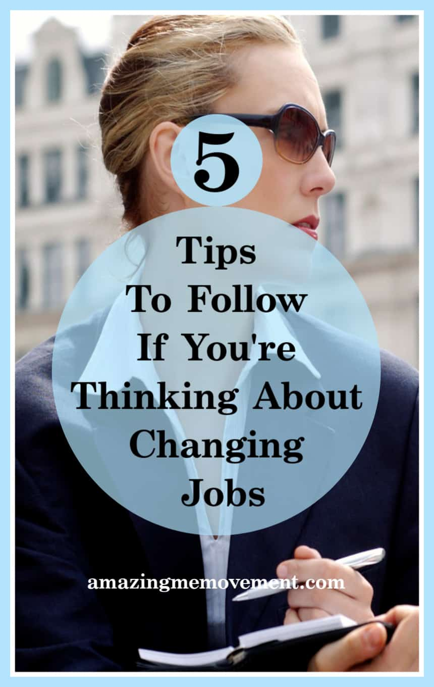 5 pieces of career advice to follow if you're thinking of changing jobs