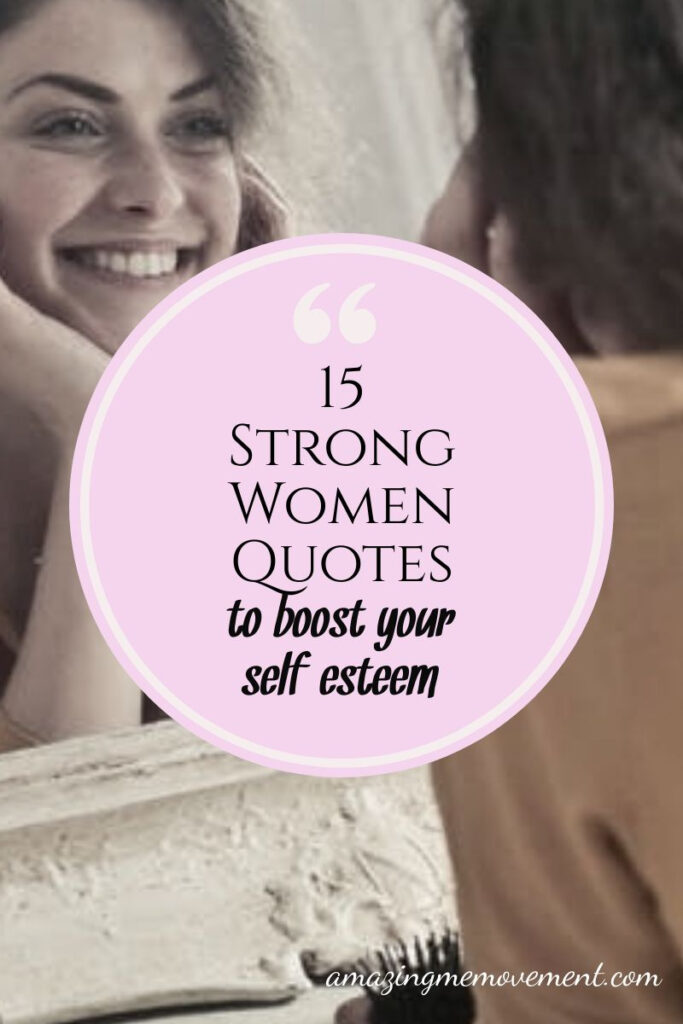 woman smiling in mirror-strong women quotes