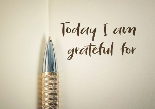 pen and pad things to be grateful for