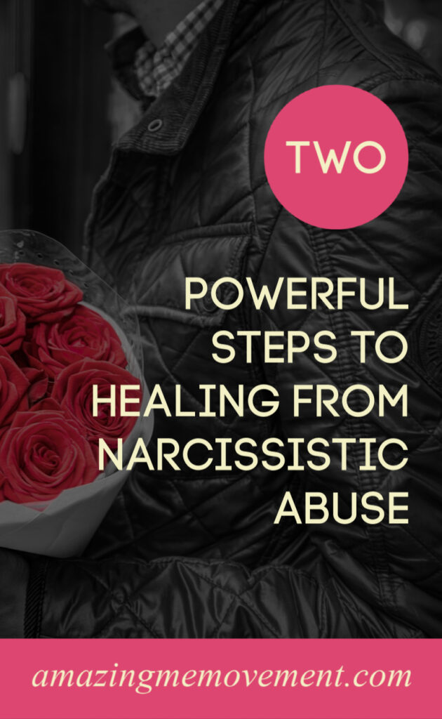 man with flowers-healing from narcissistic abuse