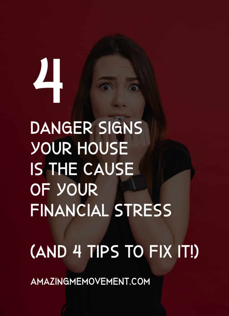 stressed lady-warning signs your home is causing financial stress