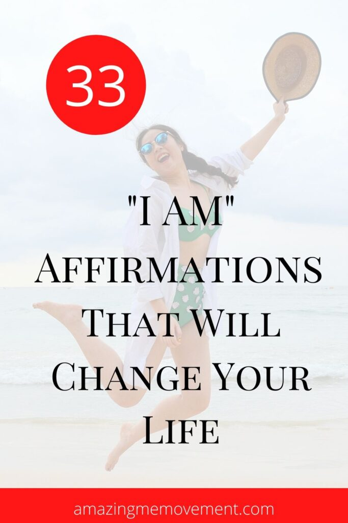 33 I am affirmations blog pin