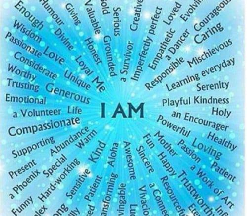 i am affirmations chart