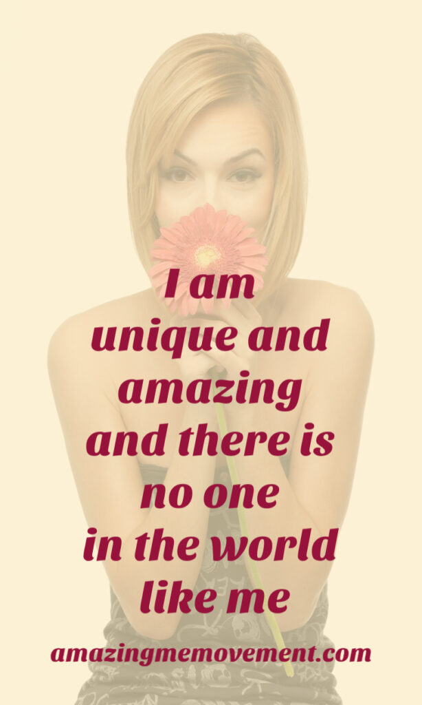 woman holding flower-i am affirmations