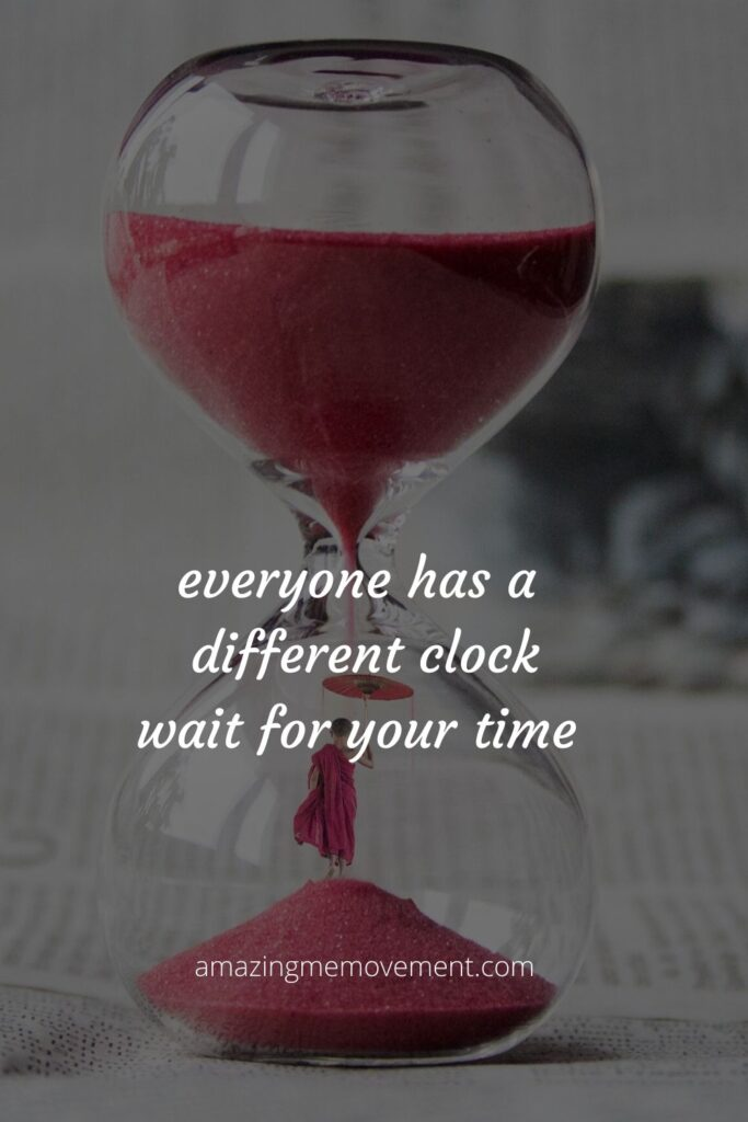 hourglass with a jay shetty quote on it