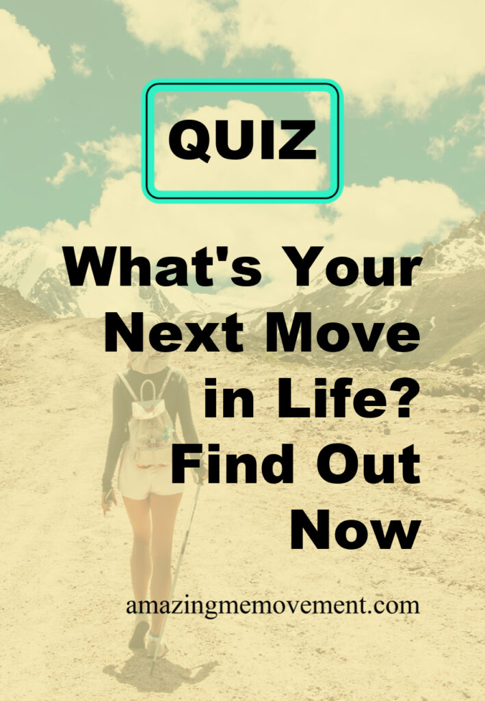 woman walking down path-next move in life test