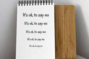 it's ok to say no notepad
