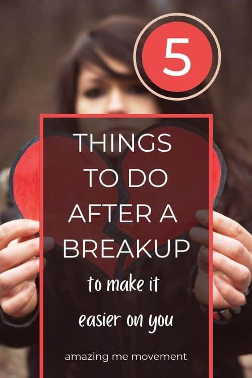 going through a breakup pinterest pin image