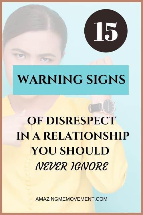 Disrespectful men signs
