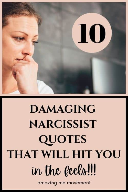 pinterest pin for narcissistic abuse quotes article