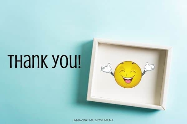 smiley face and thank you-getting through hard times blog