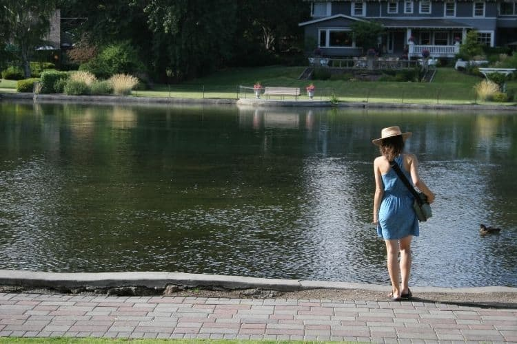 woman walking near water-how to let go of anger and stress blog
