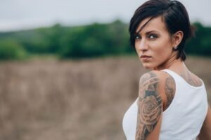 woman with tattoos-badass quotes blog