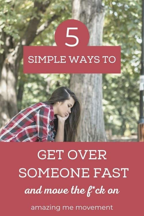 sad woman-get over someone you love pinterest image