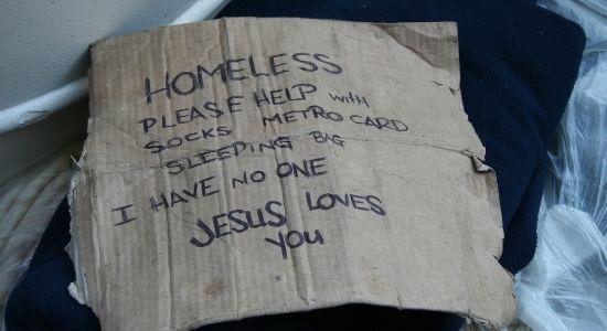 homeless sign-help the homeless blog post