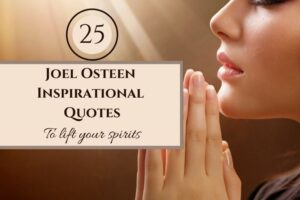 woman praying-joel osteen inspirational quotes